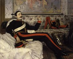 James Jacques Tissot, Frederick Gustavus Burnaby, Londres