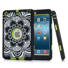 Ipad Mini 123 3in1 Case, Yxim Naional Totem Tablet Case 360 Protect Bumper Cover with Soft TPU Hard PC Skin For Ipad Mini 1 / 2 / 3 (Black Green B) *** This is an Amazon Affiliate link. Want to know more, click on the image.