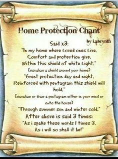 Protection...replace pentagram with moon symbol