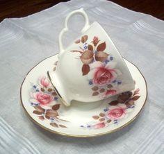 Vintage Queen Anne Summer Rose Tea Cup & Saucer