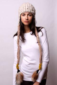 so cool. beanie hats handmade to order by Mischa Lampert. http://mischalampert.com/ #Fashion #Fur