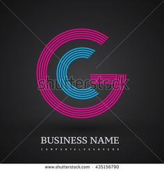 Letter GC or CG linked logo design circle G shape. Elegant red and blue colored letter symbol. Vector logo design template elements for company identity. - stock vector