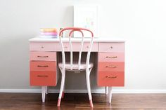 Decorate a tired desk with graduating hues