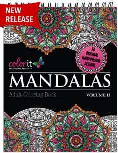 Terbit Basuki is back for volume 2 of our most popular adult coloring book to date - Mandalas to Color. If you love coloring mandalas don't miss this book #adultcoloring #mandalas #mandalacoloringpages