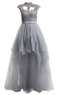 UNIQUE - Mirabel Grey Gown - Hire £89