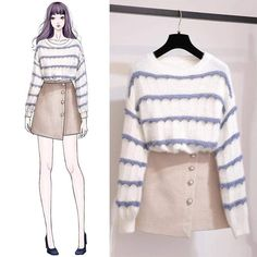 Pin by Teerachai TravelPro Team on Drawings in 2019 Ulzzang Fashion, Kpop Fashion, Asian Fashion, Fashion Outfits, Womens Fashion, Dress Fashion, Kpop Outfits, Korean Outfits, Casual Outfits