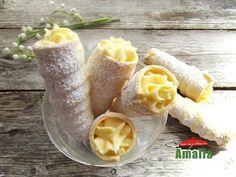 Cornete cu crema de vanilie Pudding, Homemade, Sweet, Desserts, Food, Candy, Tailgate Desserts, Deserts, Home Made
