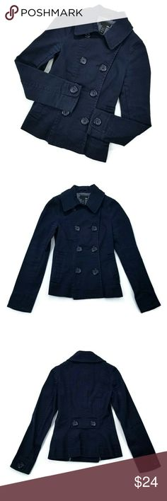 H&M Pea coat Good condition. Size 4. 96% cotton, 4% elastane. Color navy blue. H&M Jackets & Coats Pea Coats
