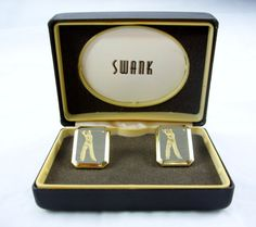 Vintage Swank Golfer Cuff Links MIB by EclecticVintager on Etsy, $40.00