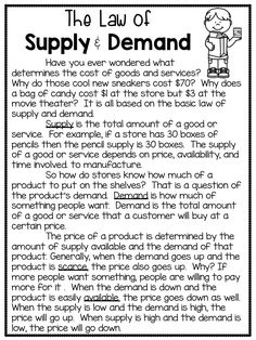 Introduce your students to the basic economic concepts of money, wants/ needs, goods/ services, consumers/ producers, and supply/ demand. 5 days of lesson plans and extension activities are included. 3rd Grade Social Studies, Social Studies Worksheets, Social Studies Activities, Teaching Social Studies, Teaching Tips, Teaching Techniques, Economics For Kids, Teaching Economics, Economics Lessons