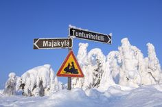 No ordinary sign in Lapland.