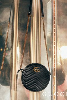 c071eb695131 A new shape from Cruise 2019, the rounded GG Marmont bag features the  Double G