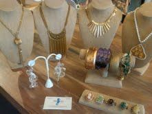 Palm Beach Vintage Jewelry display at Hayley's Boutique in Raleigh's North Hills!!  Wear a little something special that not everyone has!!