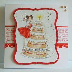 Geburtstagskarte - Material gibts bei: www.stempelkobold.at Material, Decorative Plates, Photo And Video, Girls, Free, Home Decor, Birth, Cards, Toddler Girls