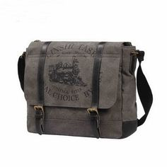 Retro leather and canvas crossbody bag school bag for men Canvas Crossbody  Bag 1d4a9d7ed2e11
