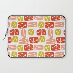 Fresh Abstract Floral Laptop Sleeve  via Mandy Ford Art & Illustration   Society6, illustration, surface design, pattern, pattern design