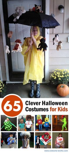 original halloween costumes 65 Clever Halloween Costumes for … - Kids costumes Original Halloween Costumes, Diy Halloween Costumes For Kids, Cute Halloween Costumes, Clever Costumes, Funny Costumes For Kids, Scariest Halloween Costumes Ever, Halloween Costume Winners, Simple Costumes, Halloween Costumes Kids Homemade