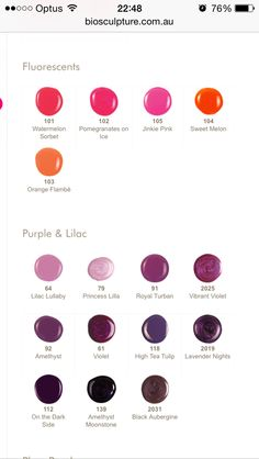 Bio Sculpture Colours Funky Nail Designs, Nail Art Designs, Bio Sculpture Gel Nails, Nail Colors, Colours, Funky Nails, Purple Lilac, Gel Color, Beauty Nails