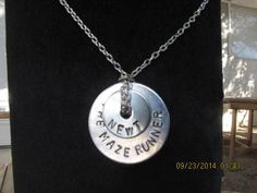 The Maze Runner Hand Stamped Washer Necklace by onehundredofmine