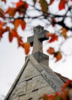 Autumn at Marquette University's St. Joan of Arc Chapel.