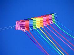 Rainbow Kite Train by PostMan1107, via Flickr