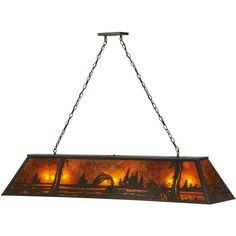 60 Inch L Northwoods Leaping Trout Oblong Pendant. 60 Inch L Northwoods Leaping Trout Oblong Pendant Theme:  RUSTIC MISSION LODGE ANIMALS MICA Product Family:  Northwoods Leaping Trout Product Type:  CEILING FIXTURE Product Application:  BILLIARD/ISLAND Color:  TIMELESS BRONZE/AMBER MICA Bulb Type: MED Bulb Quantity:  9 Bulb Wattage:  100 Product Dimensions:  36-99H x 61L x W x 17DPackage Dimensions:  NABoxed Weight:   lbsDim Weight:  NAOversized Shipping Reference:  NAIMPORTANT NOTE…