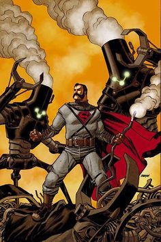 Steampunk Superman variant cover by Dave Johnson *