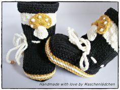 Babystiefel   Babyschuhe von Maschenlädchen auf DaWanda.com