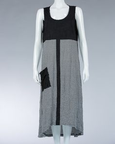 Animale ladies long dress striped motif and plain - Black #WomenDress #Dress #SummerDress #Animale #WomenWear #WomenFashion #MotifDress #LightDress #SummerDress
