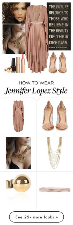 """""""Senza titolo #1083"""" by talulahj on Polyvore featuring Jennifer Lopez, Valentino, Lanvin, BCBGeneration, Gianvito Rossi, Charlotte Tilbury and OPI"""