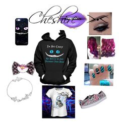 """Cheshire Cat. >•"" by flade-cw on Polyvore featuring Casetify, Vans, Hanes and Fiebiger"
