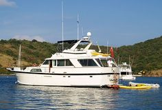 """ANALISA  60 ft. Hatteras Motor Yacht   Available in the #BVI. For more information contact Dennis at Charter Sailing Unlimited: 888-856-8310 or 317-745-1990, or use my """"Information Request"""" form at; http://www.sail-csu.com/info-request"""