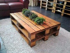 3 recycled pallet coffee table
