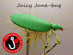 Fly Fishing Flies  2pk Juicy Junebugs by CreatedByShawn on Etsy, $4.50