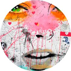 Quite Frankly - Available in 4 different sizes, round ready to hang modern art from http://www.the-artwork-factory.com/circular-art/quite-frankly-circular-art.html. By The Artwork Factory®.