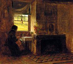 Interior of a Farm House in Maine: 1865--Eastman Johnson