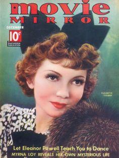 MOVIE MIRROR December 1936 / Claudette Colbert