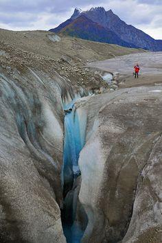 Waterfall Root Glacier Photograph  - Waterfall Root Glacier