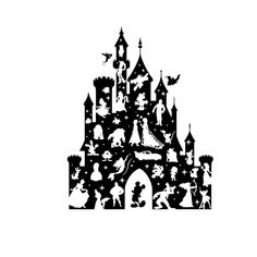 Disney Castle Silhouette, Star Wars Silhouette, Silhouette Clip Art, Silhouette Projects, Disney Diy, Disney Crafts, Disney Trips, Vinyl Crafts, Vinyl Projects