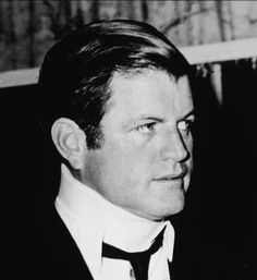 Where does Ted Kennedy use statistics, and comparison in his Chappaquiddick speech?