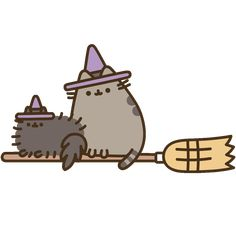 Cat Halloween Sticker by Pusheen for iOS & Android Kawaii Halloween, Cute Halloween Drawings, Chat Halloween, Halloween Stickers, Chat Pusheen, Pusheen Love, Cute Animal Drawings Kawaii, Kawaii Drawings, Cute Drawings