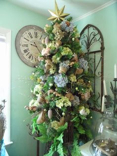 Christmas 2013! For more inspiration like this, check out Mikey Fuller at www.ShabbyFrenchCottage.com. Cottage Christmas, Christmas Décor, Christmas Wreaths, Christmas Decorations, Holiday Decor, French Cottage, Shabby, Romantic, Holidays