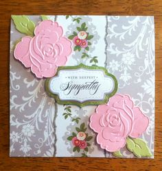 This is a another variation using Grace collection, French Floral papers, cut and embossed roses and leaves from Lace Trimmings.