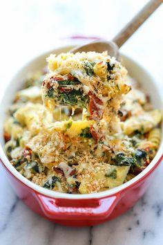 Tonight's dinner recipe: chicken florentine artichoke bake!