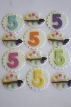 12 Fondant cupcake toppersnurse medical graduation by PastelFiesta