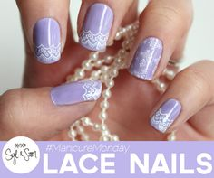 It's time for another #manicuremonday with Syl and Sam! This time they tackle Lace Nails!