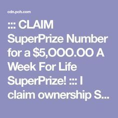 Yes I Diana Raymundo I want to claim and confirm this prizes.for life at pch Instant Win Sweepstakes, Online Sweepstakes, Win Online, Lotto Winning Numbers, Lotto Numbers, Promotion Card, Investing Apps, Win For Life, Diana