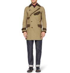 Junya WatanabeTwill-trimmed cotton coat|MR PORTER
