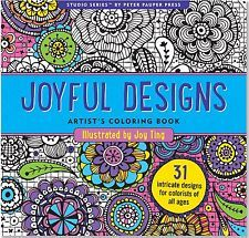 Joyful Designs Adult Coloring Book by Joy Ting (Perfect Paperback) BRAND NEW