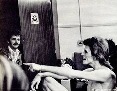 Ringo Starr and David Bowie